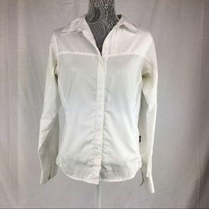 Patagonia Women's 8 White Button Down Shirt